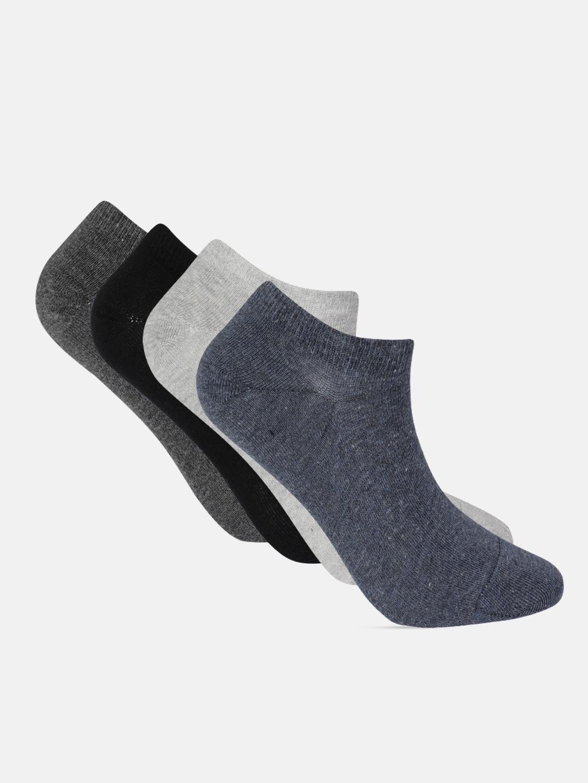 Mast   Harbour Men Pack of 4 Solid Ankle Length Socks