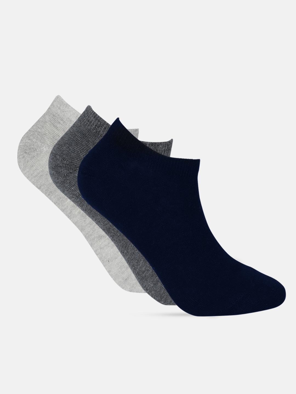 Mast   Harbour Men Pack of 3 Solid Ankle Length Socks