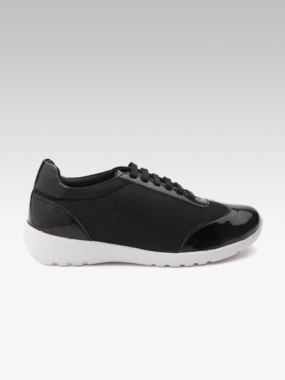 Buy Carlton London Women Black Sneakers