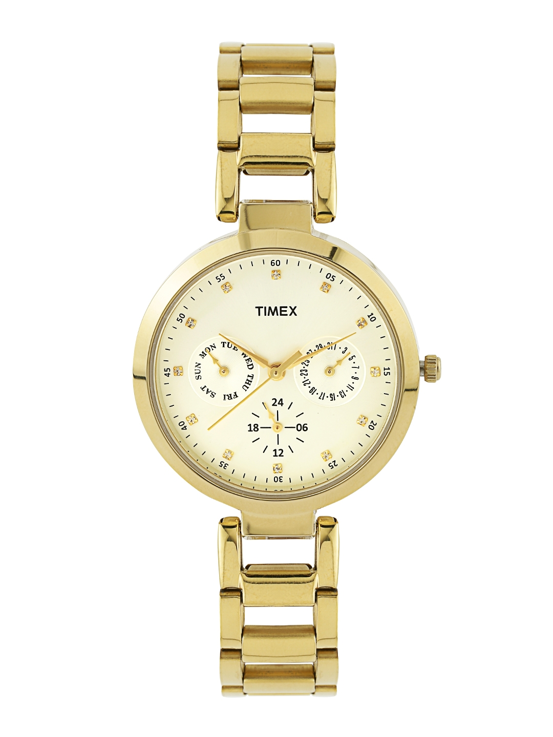 Timex Women Silver Toned Dial Watch TW000X208