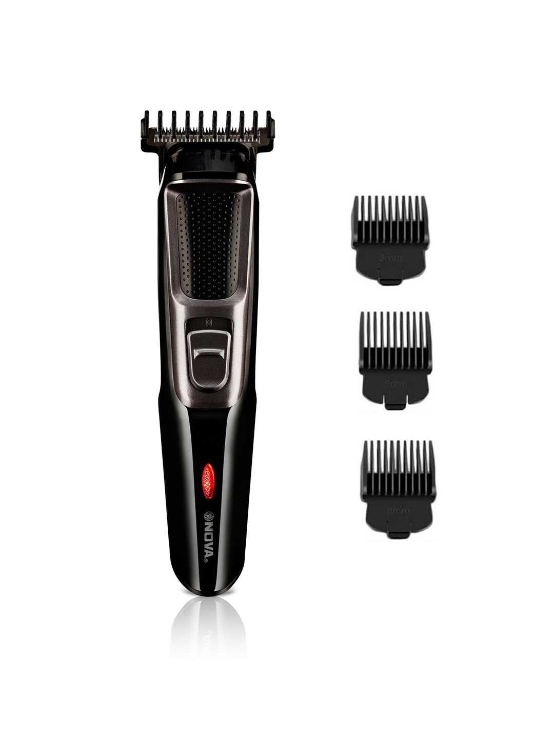 Nova Men NHT 1076 Cordless Trimmer   Black