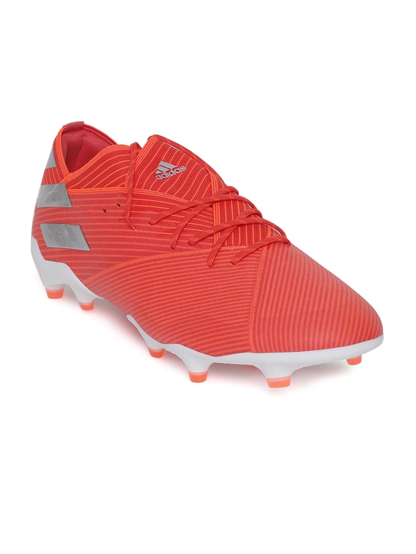 57d178bb71e136 Buy ADIDAS Men Red Nemeziz 19.1 Firm Ground Cleats Striped Football ...