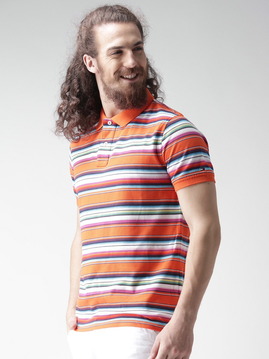 46794c10 Buy Tommy Hilfiger Multicoloured Striped Polo T Shirt - Tshirts for ...