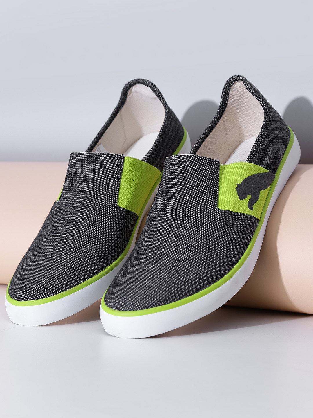 20daabc1c836 Buy PUMA Unisex Charcoal Grey Lazy Slip On II DP Slip Ons - Casual Shoes  for Unisex 961913