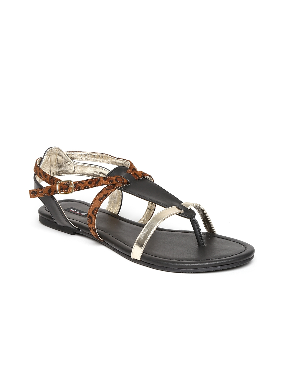 de9a87811575 Buy Inc 5 Women Black   Brown Sandals - Flats for Women 965580