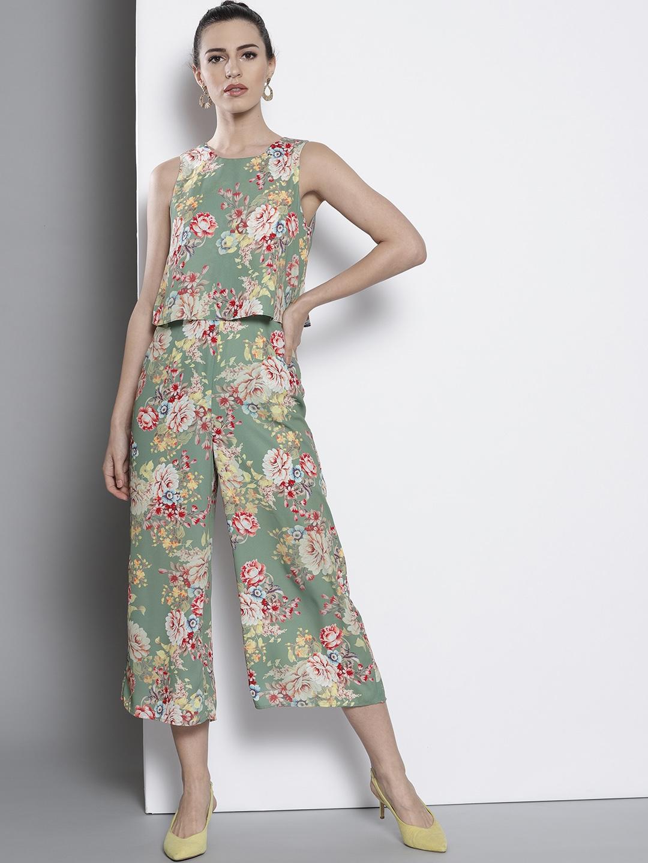 Womens Print Shirt Culotte Jumpsuit
