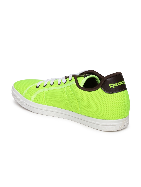 5387df92b3a4 Buy Reebok Classic Men Fluorescent Green NPC Court Sneakers - Casual ...