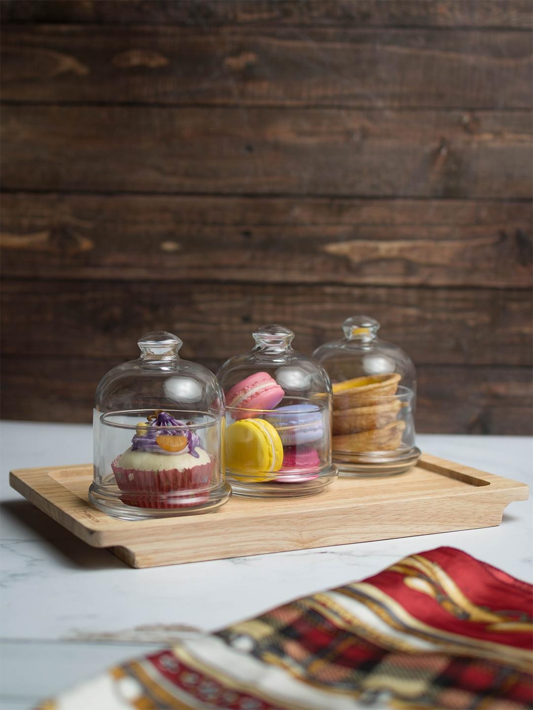 Pasabahce Set of 3 Food Storage Glass Jars 220 ml