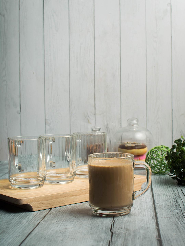 Pasabahce Set of 4 Glass Mugs 265 ml each