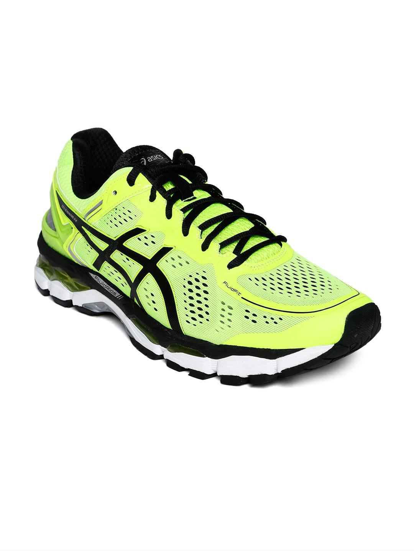 Buy ASICS Men Fluorescent Green Gel Kayano 22 Running Shoes - Sports ... e36f8c92dc80