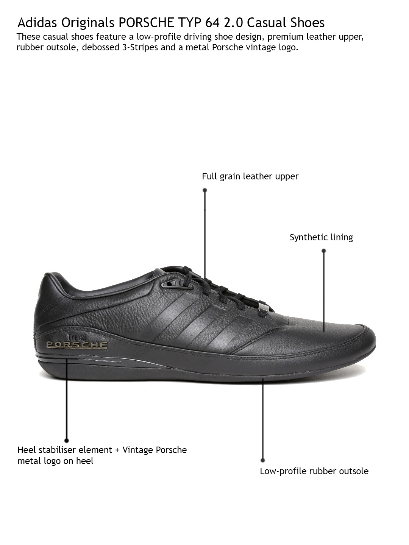 9f636dab3fee Buy Porsche Design By ADIDAS Originals Men Black Leather Casual ...