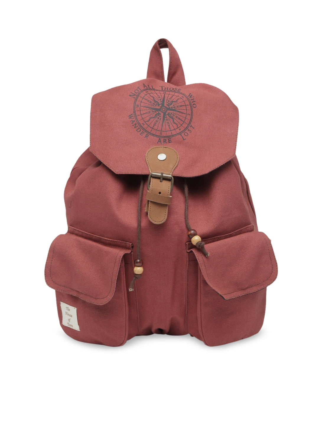 The House of Tara Unisex Rust Red Solid Backpack