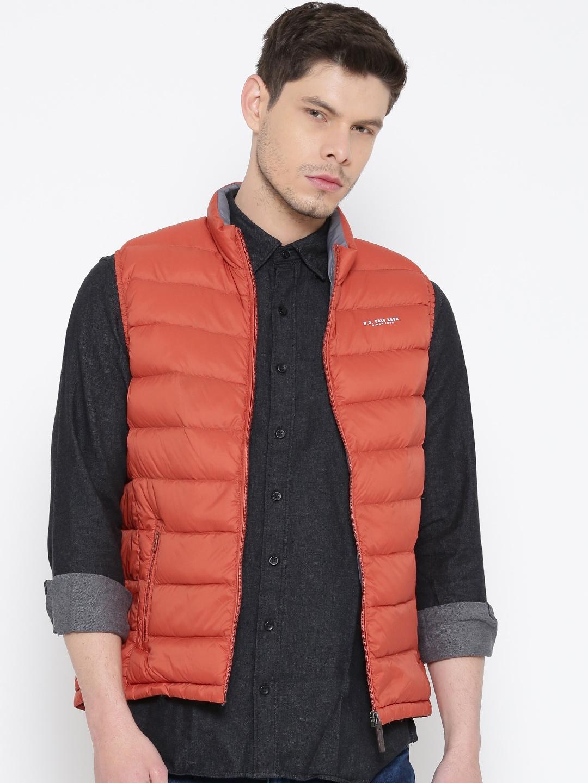 efd5208b Buy U.S. Polo Assn. Orange Sleeveless Padded Down Jacket - Jackets ...