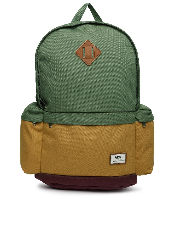 e7bec854be Buy Vans Unisex Green   Mustard Yellow Ashburn Backpack - Backpacks for  Unisex 981049
