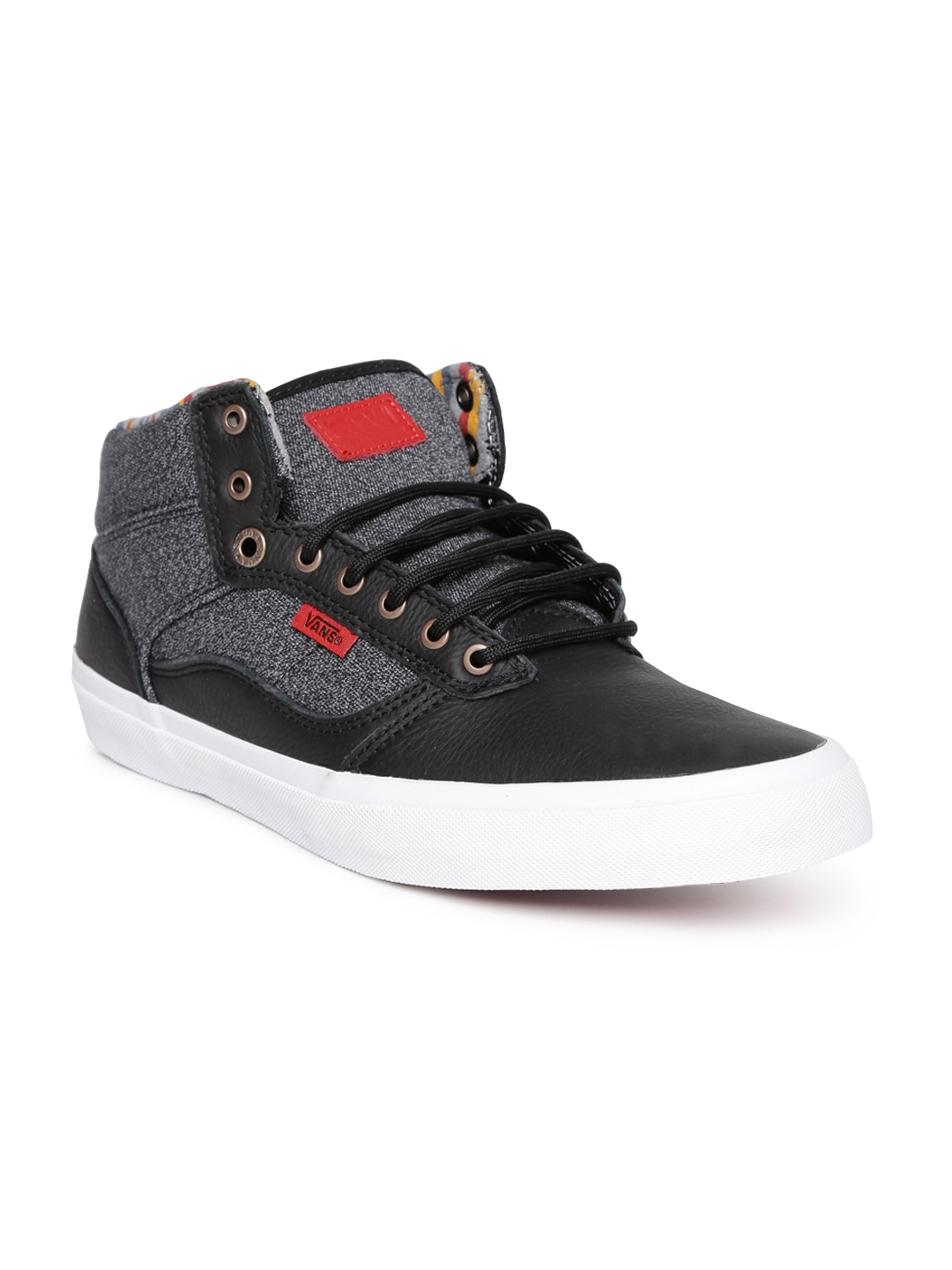 5566ed2c159e Buy Vans Men Black   Grey Leather Casual Shoes - Casual Shoes for ...