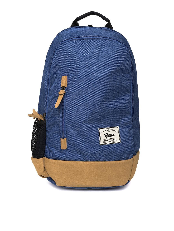 Gear Unisex Blue Waterproof Backpack