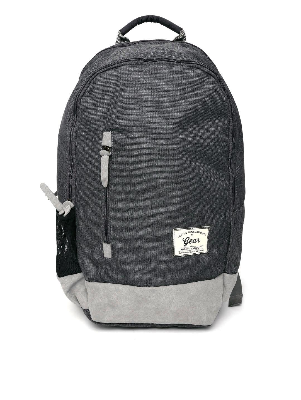 Gear Unisex Grey Waterproof Backpack