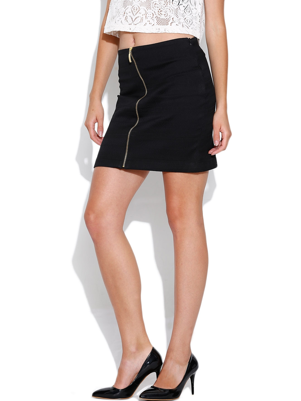 Buy Tokyo Talkies Black Mini Pencil Skirt Skirts For Women 989206