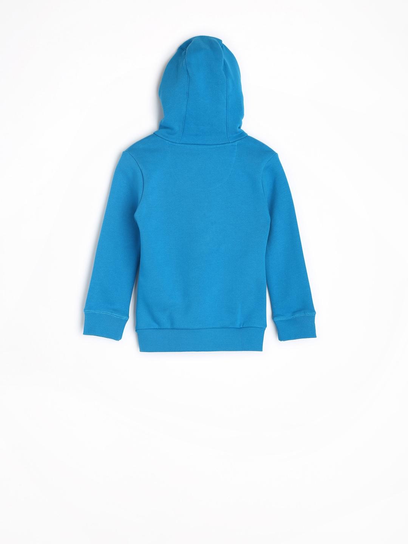 huge discount 5638f cad7c Adidas Boys Blue Printed Hooded Sweatshirt