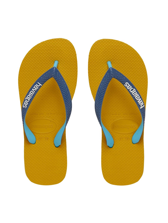 havaianas yellow blue