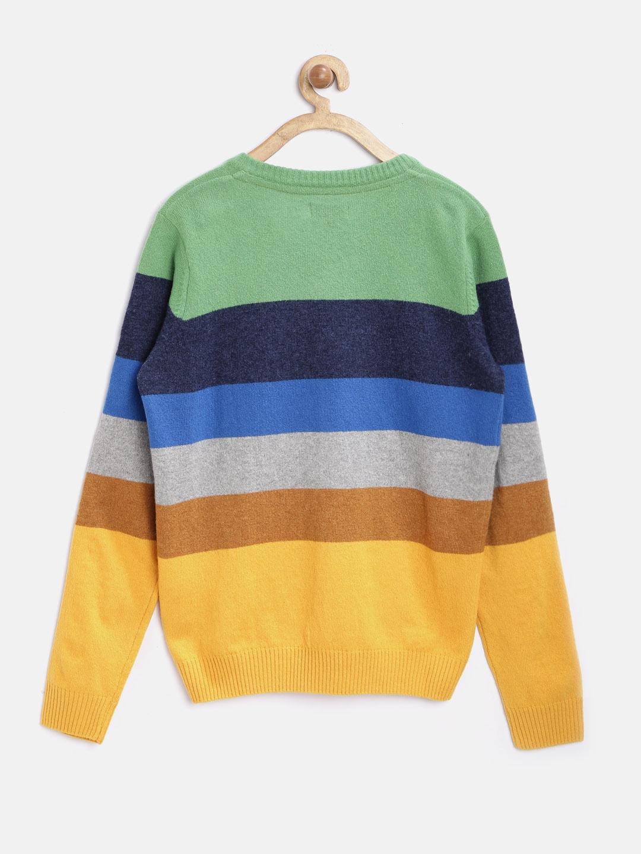 0820c9971 Buy U.S. Polo Assn. Kids Boys Multicoloured Lambswool Striped ...