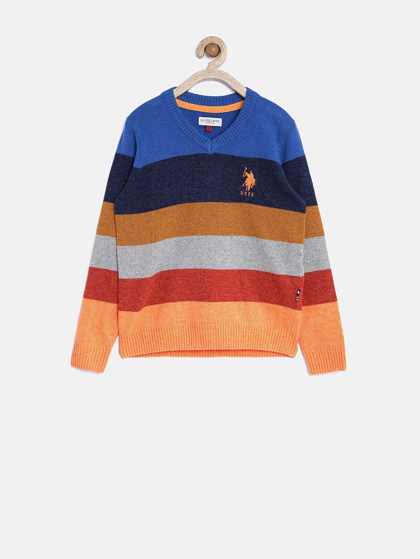 ce35d663c Buy U.S. Polo Assn. Kids Boys Multicoloured Striped Sweater ...