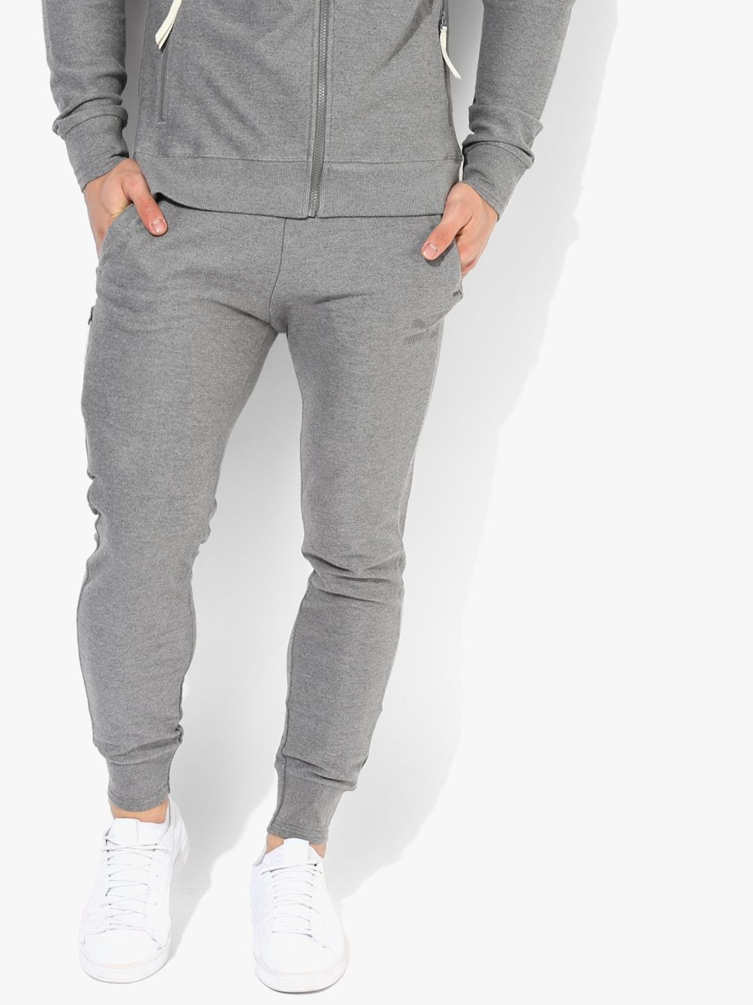 b2b2d4605b Buy One8 Vk Grey Joggers - Track Pants for Men 7634560 | Myntra