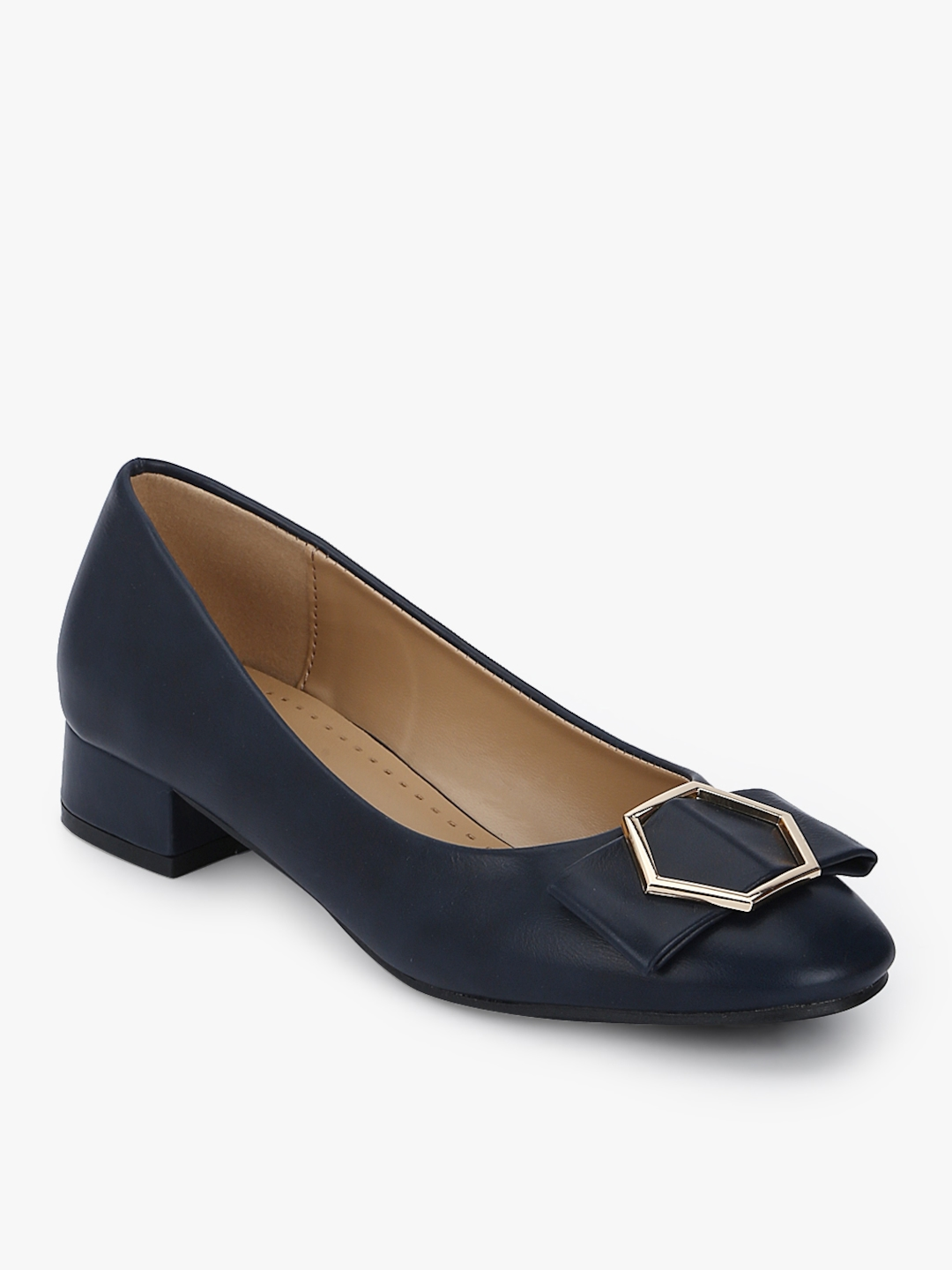 440d3954c8a5 Buy Navy Blue Bow Belly Shoes - Flats for Women 7683878 | Myntra