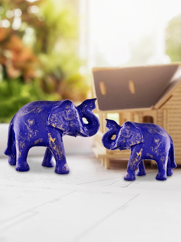 Archies Blue Elephant Showpiece