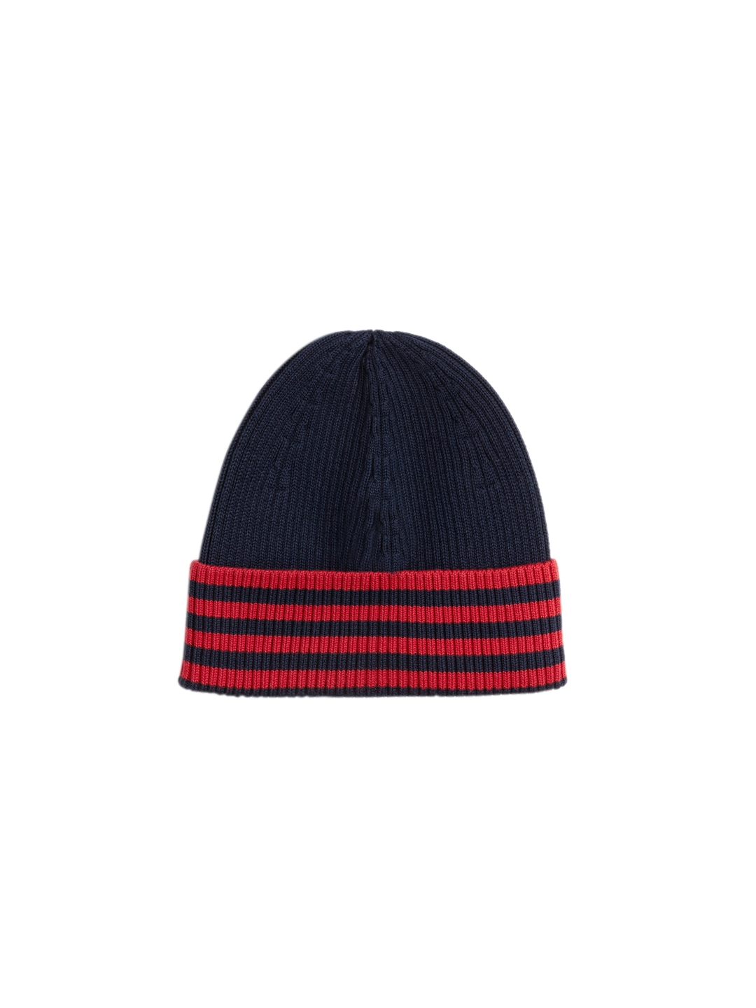 1035a57c6c5 Buy Lacoste Men Navy Blue   Red Striped Beanie - Caps for Men ...
