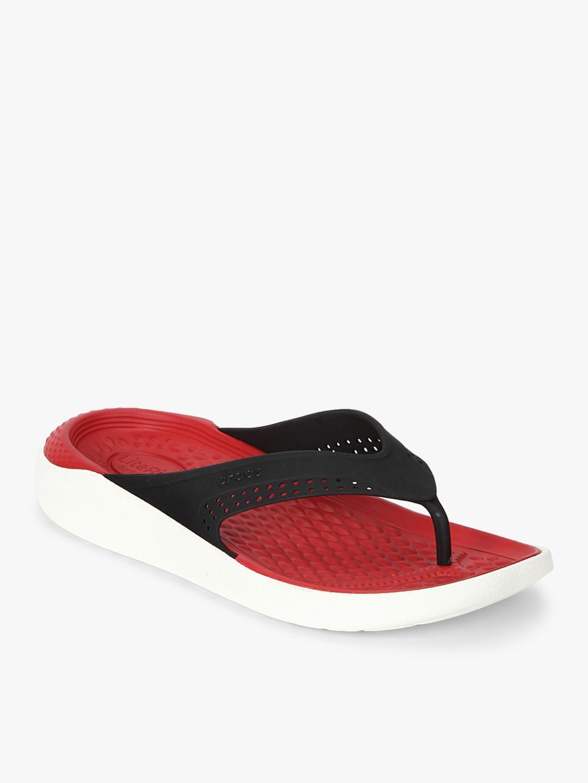 18c0ba2fb2fd6e Buy Literide Black Flip Flops - Flip Flops for Unisex 7896781