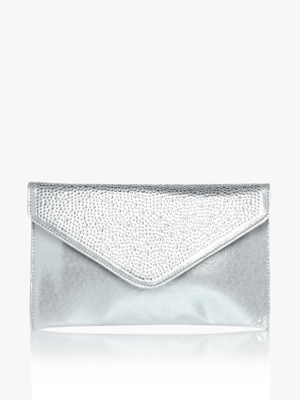 6290e0d44 Buy Silver Shimmer Gem Clutch - Clutches for Women 7901123 | Myntra