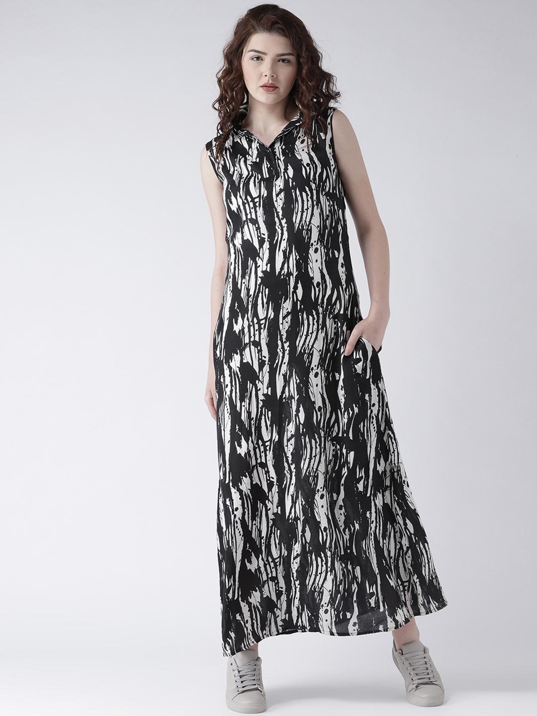7f9e4a4e7f0 Buy DODO   MOA Women Black Printed Maxi Dress - Dresses for Women ...