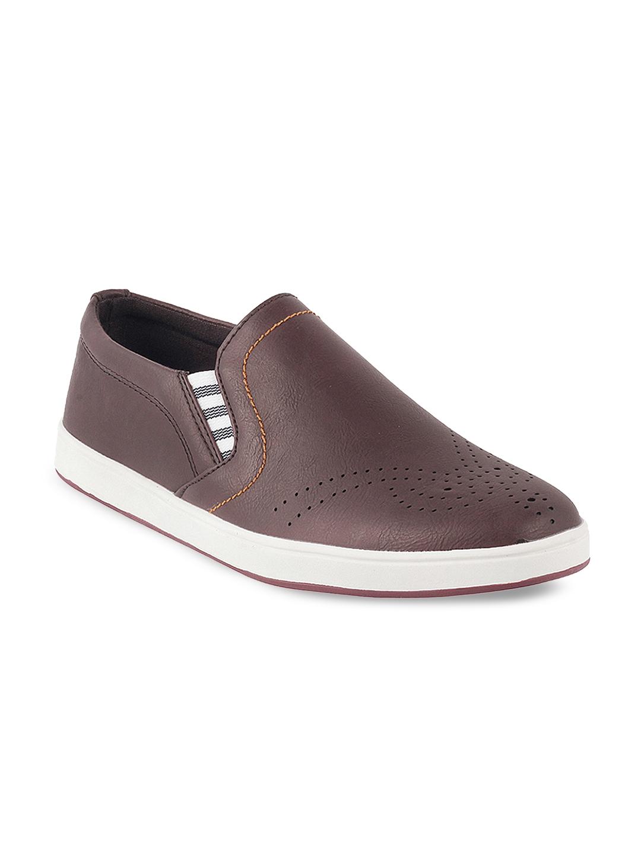 734d19c346567 Buy Metro Men Brown Slip On Sneakers - Casual Shoes for Men 8000867 ...