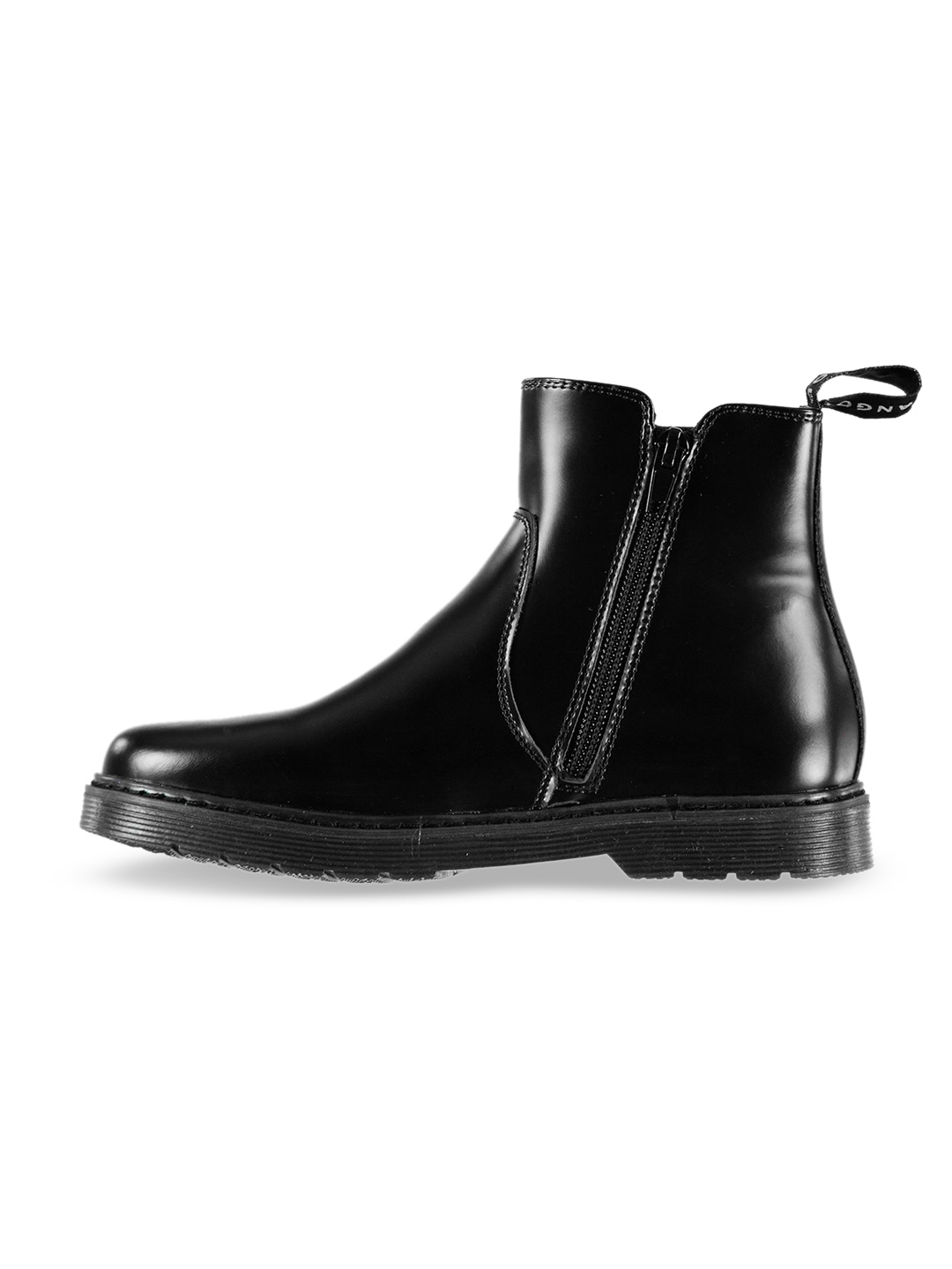 3deadf3b Buy Kangol Girls Black Leather Chelsea Flat Boots - Casual Shoes for ...