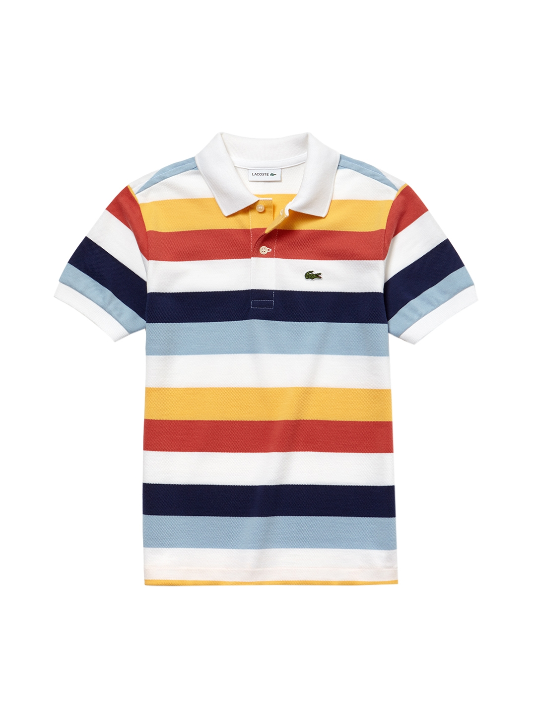 3acdfbe1 Buy Lacoste Boys Multicoloured Striped Polo Collar T Shirt - Tshirts ...
