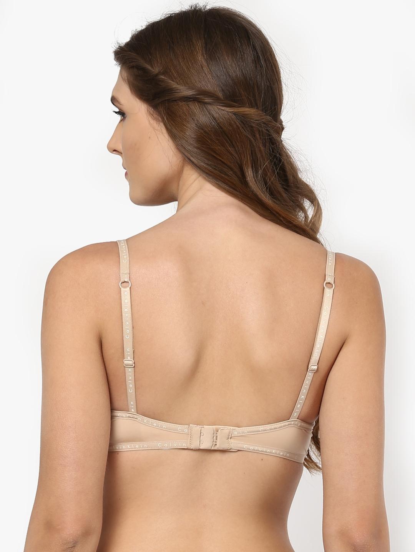 854e7481b5f092 Buy Calvin Klein Underwear Beige Solid Underwired Lightly Padded ...