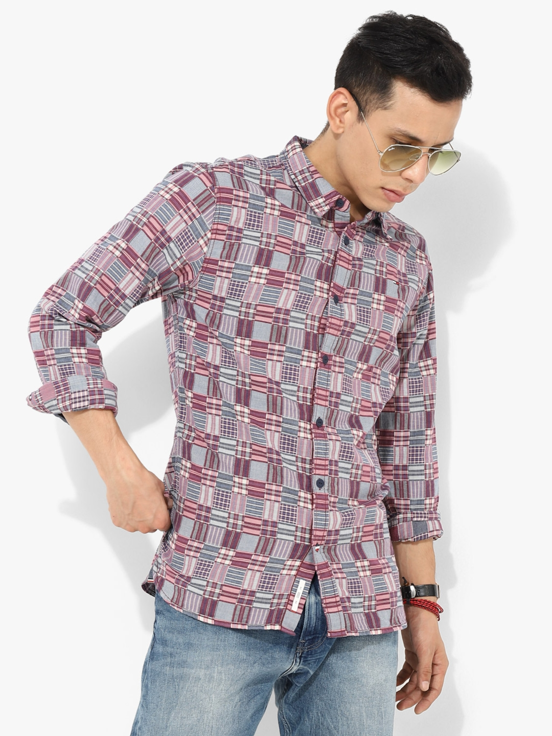 640504921 Buy Multi Checked Slim Fit Casual Shirt - Shirts for Men 8227413 ...