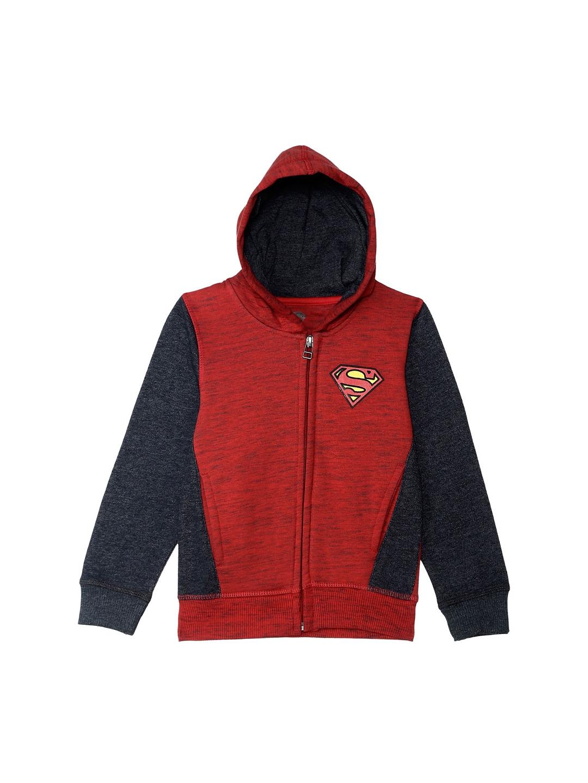 5eb4ce23244 Buy Kids Ville Boys Red Printed Hooded Sweatshirt - Sweatshirts for ...