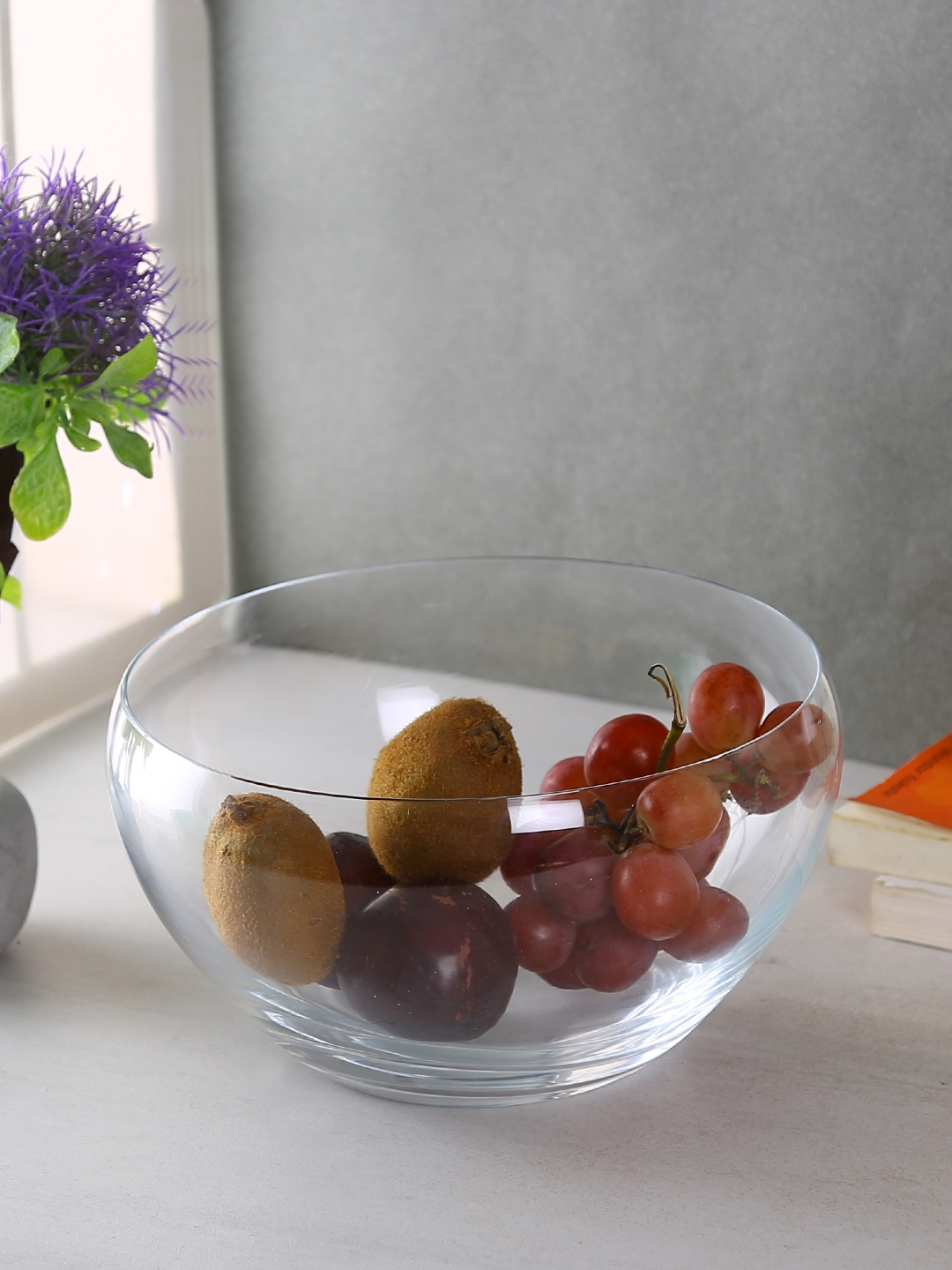 Bohemia Crystal Transparent Solid Glass Bowl 235 mm