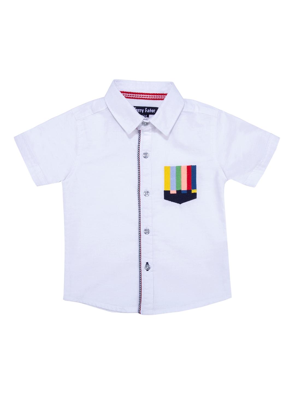 cb5e811e Buy Terry Fator Boys White Comfort Regular Fit Solid Casual Shirt ...
