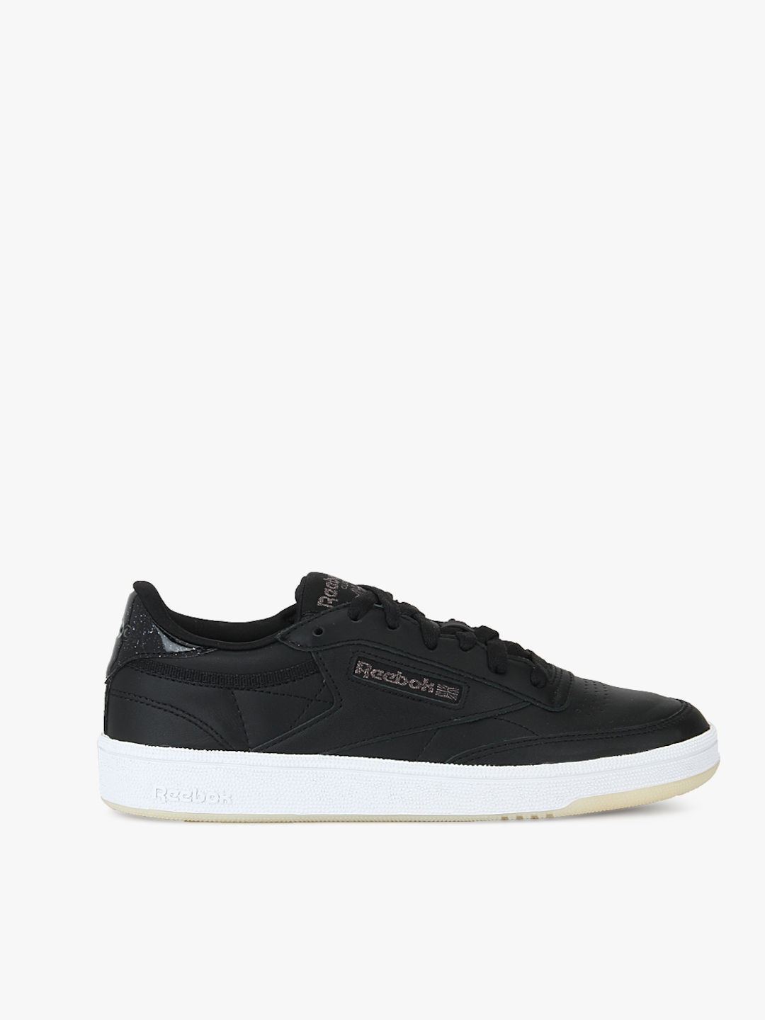 fcb314ab63c Buy Reebok Women Club C 85 Leather Black Sneakers - Casual Shoes for ...