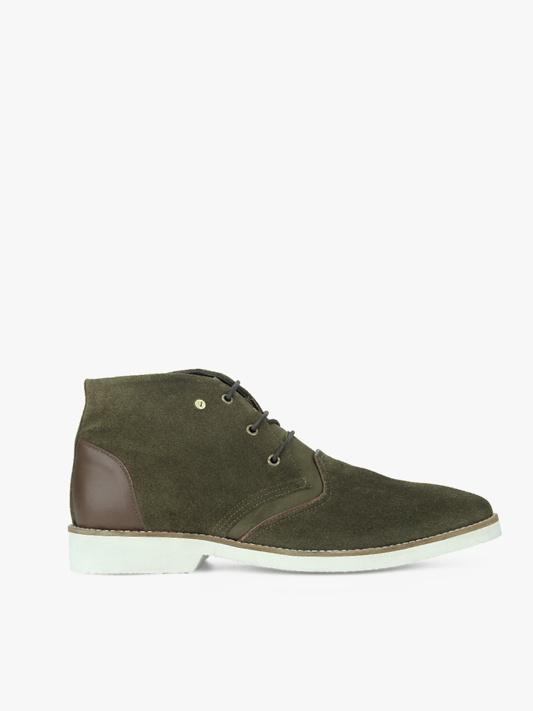 e405d88365 Buy V Dot By Van Heusen Men Olive Green Suede Boots - Casual Shoes ...