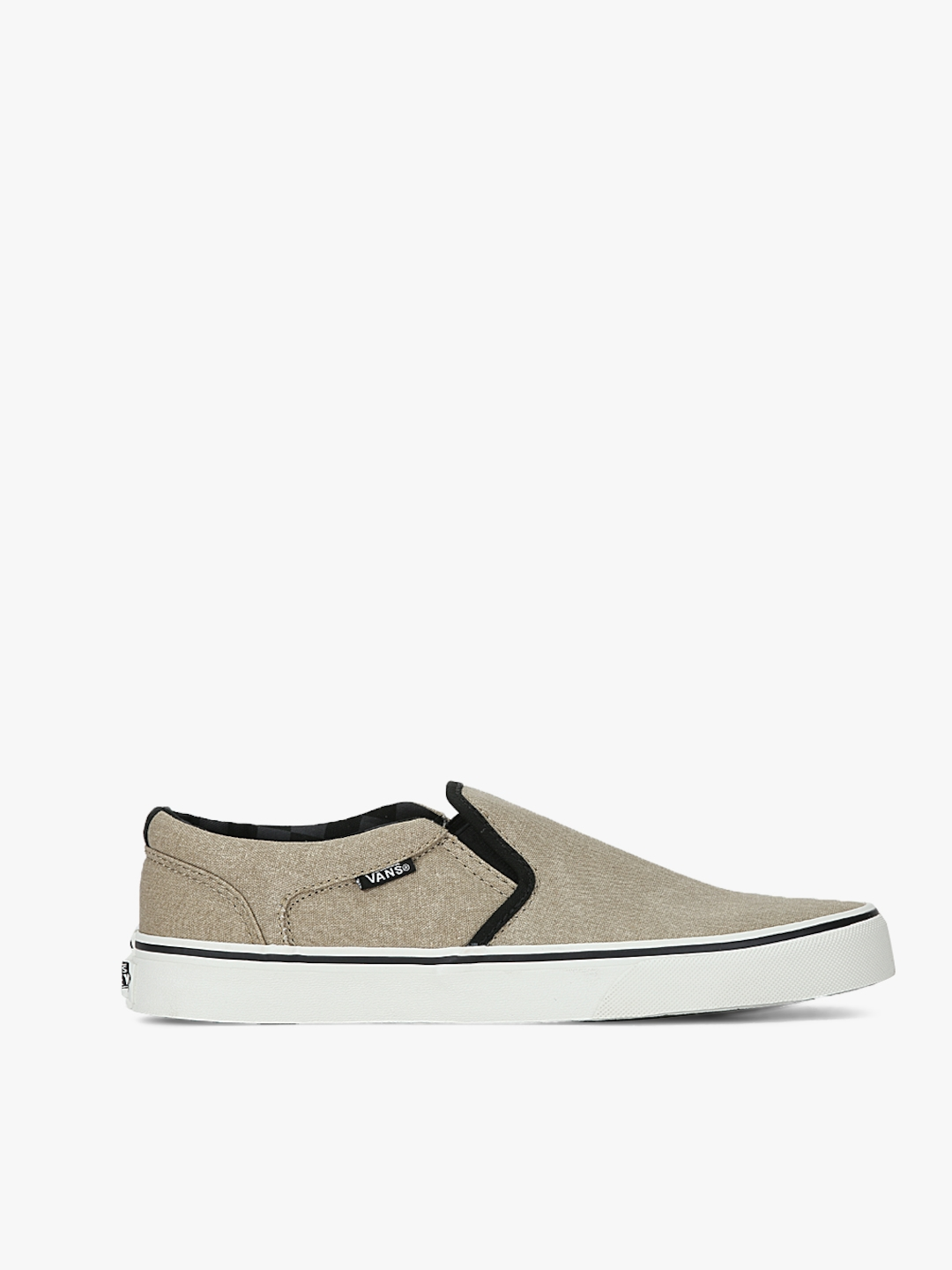 943192debc Buy Vans Men Khaki Asher Slip On Sneakers - Casual Shoes for Men ...