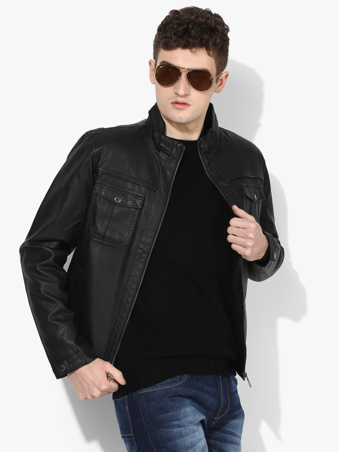 45140b03f312 Buy Black Solid Casual Jacket - Jackets for Men 7177719