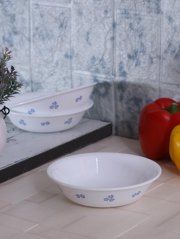 Corelle White Printed 6 Pieces Glass Bowls