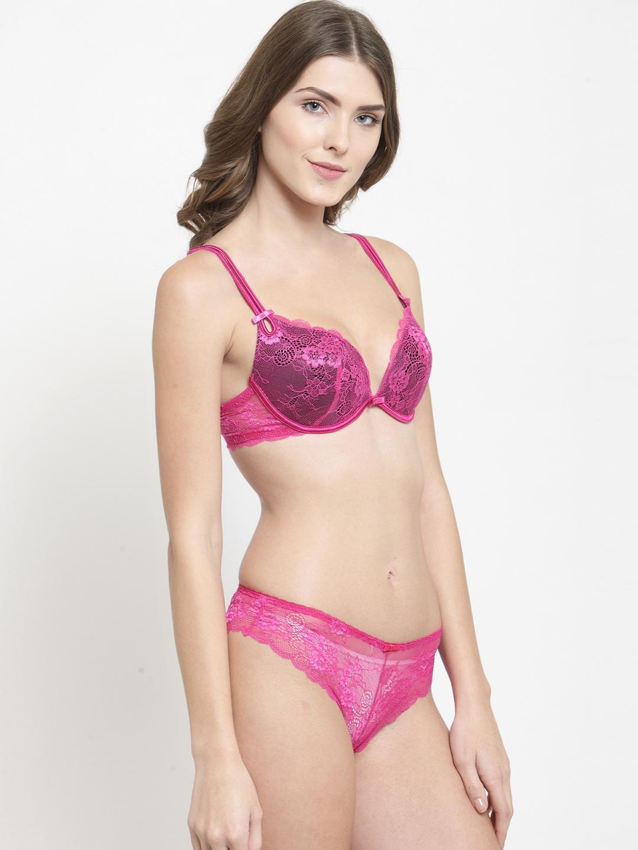 bc56886d1 Buy Quttos Women Pink Bra Panty Set QT ST 333 - Lingerie Set for ...