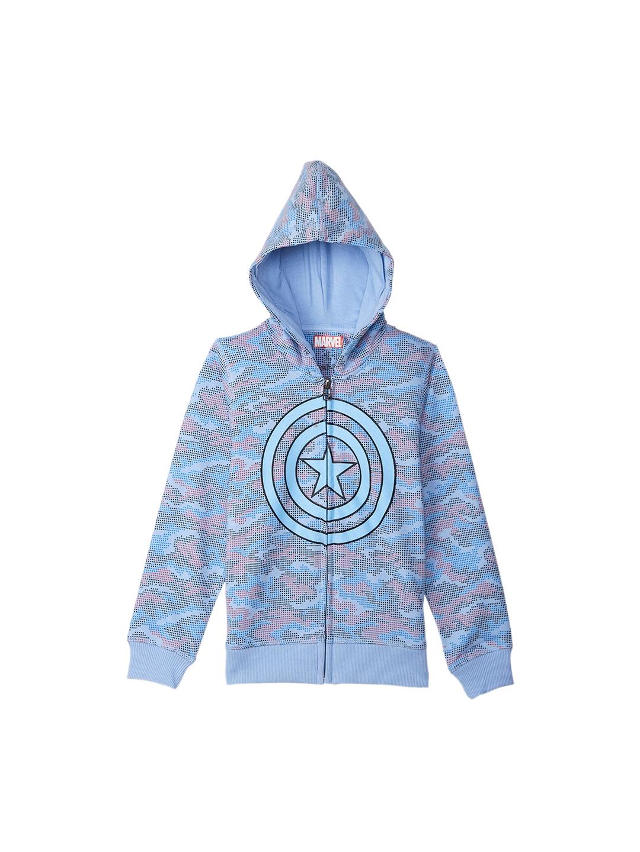 4b28ed4e1a30 Buy Kids Ville Captain America Boys Blue Printed Sweatshirt ...