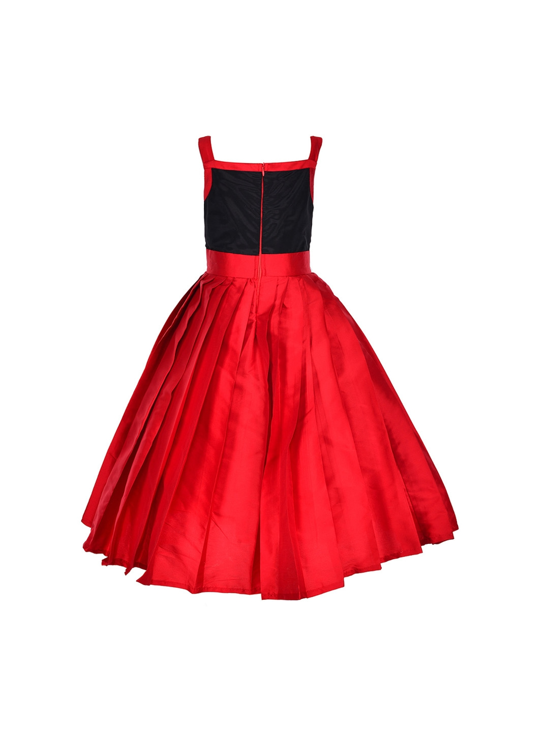 55d0c9ca475b Buy Samsara Couture Girls Red Solid Fit And Flare Dress - Dresses ...