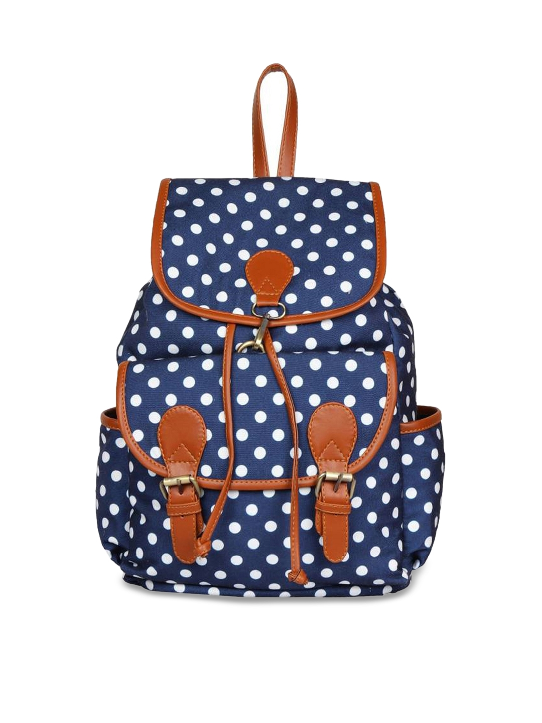 Lychee bags Women Blue Geometric Print Backpack